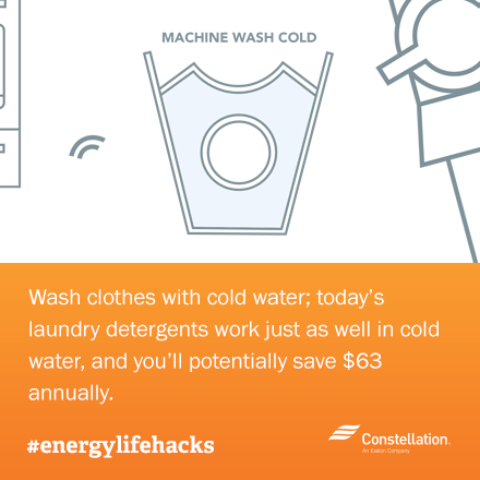 energy saving tip - wash clothes in cold water
