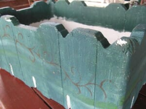 Painted polystyrene box