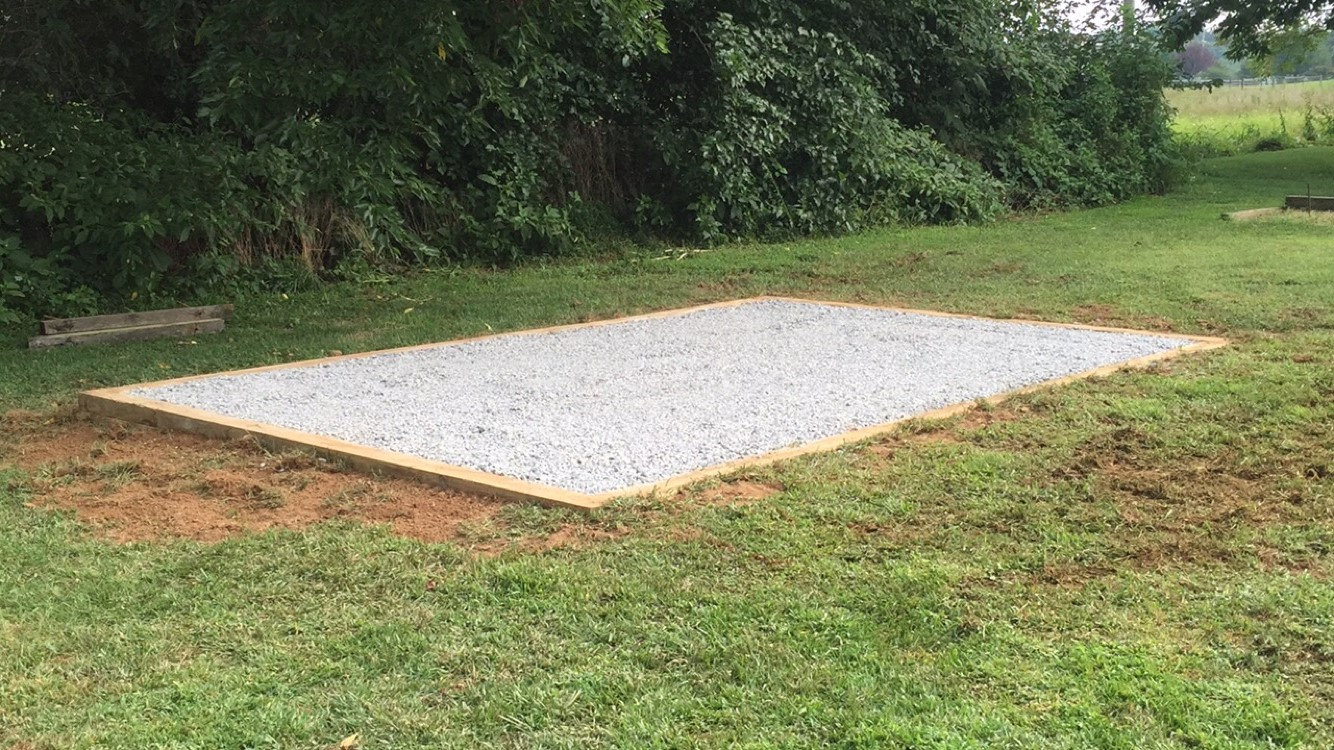 Gravel shed foundation installation available in MD